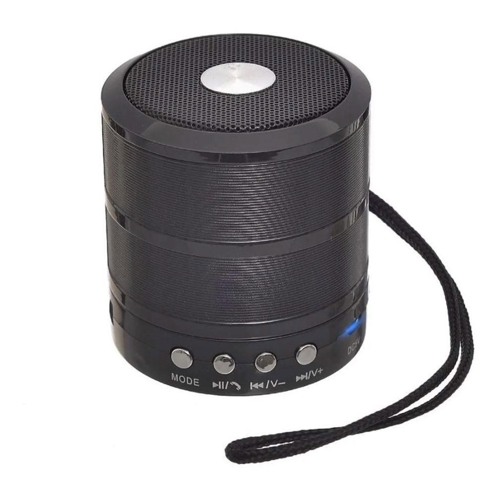 Caixa Bluetooth Grasep D-BH887 5w com Fm/Sd/Usb Preta