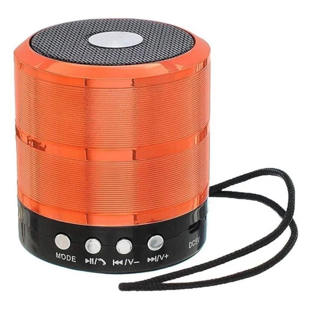 Caixa Bluetooth Grasep D-BH887 5w com Fm/Sd/Usb Vermelha