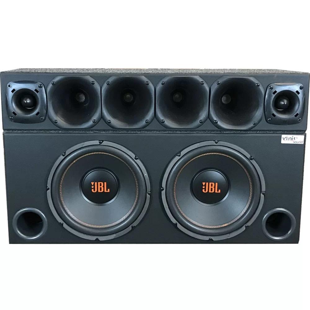 Caixa com 2 JBL Multisystem + Corneteira 4 D200 + 2 ST200