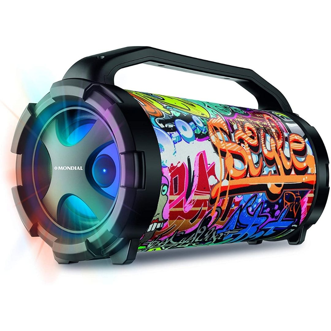 Caixa de Som Amplificada Mondial MCO11 Multicolor Bivolt 50W