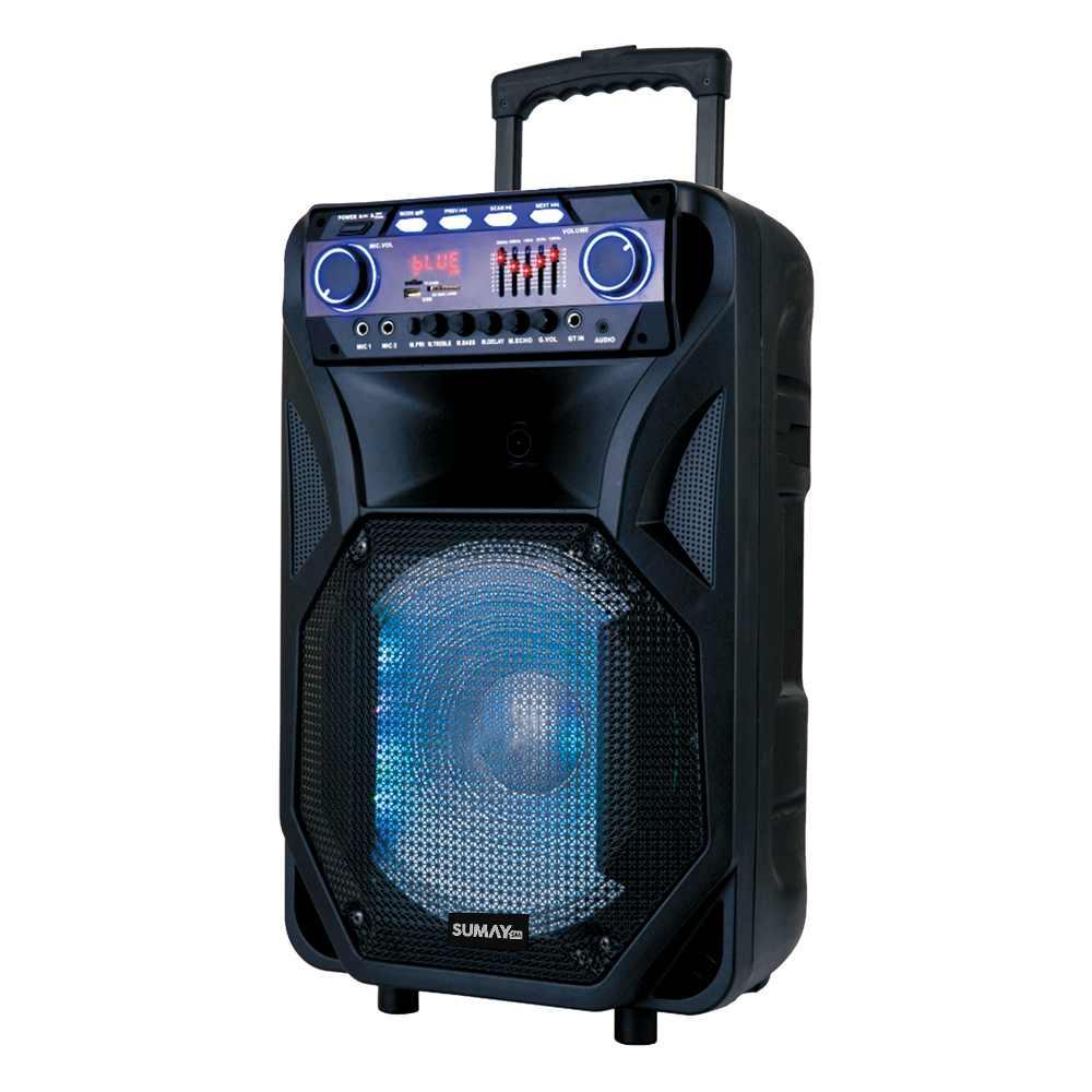 Caixa de Som Amplificada Sumay Thunder Black - 400 Wrms