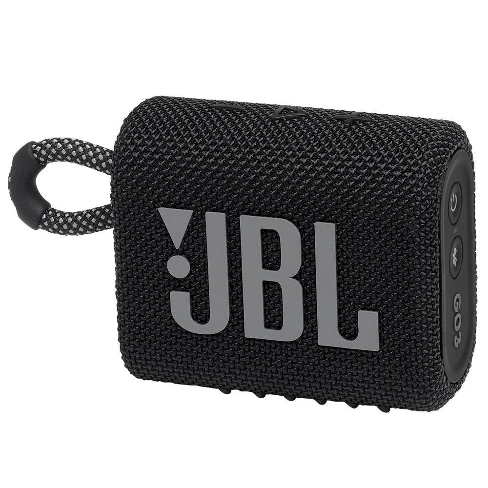 Caixa de Som Portátil JBL Go 3 Bluetooth À Prova De Poeira e Água - Preto