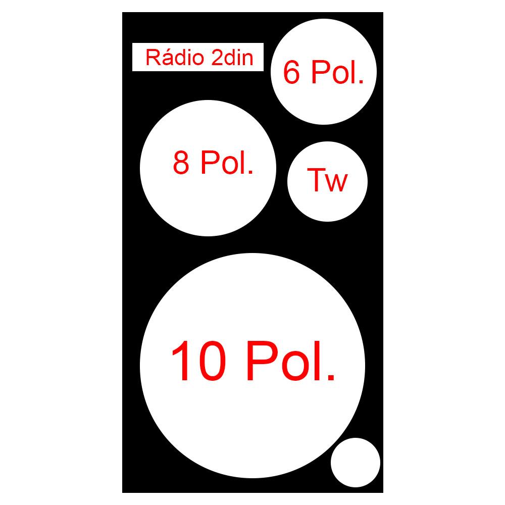 Caixa Residencial Vazia 4 Vias 1 de 10 +2 Médios +Tw +Radio