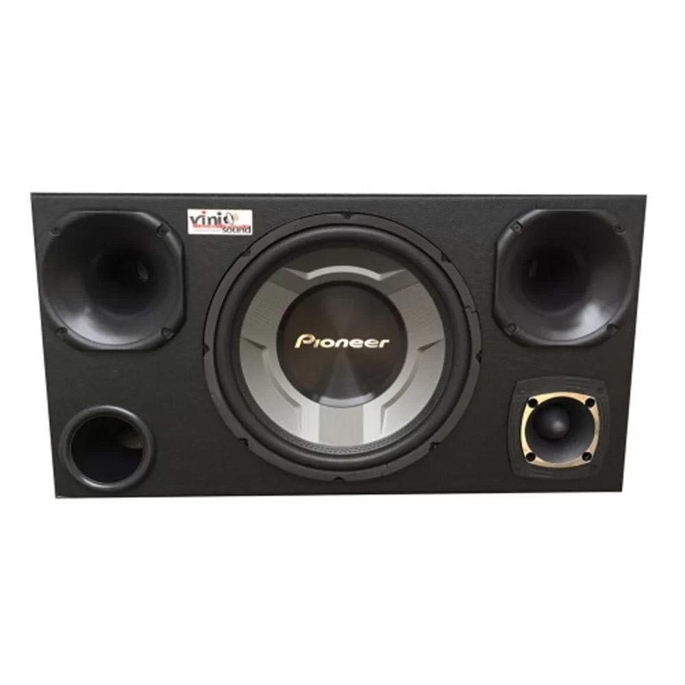 Caixa Sub Pioneer TS-W3060BR 350WRMS 12 Pol + Drivers + Tweeter