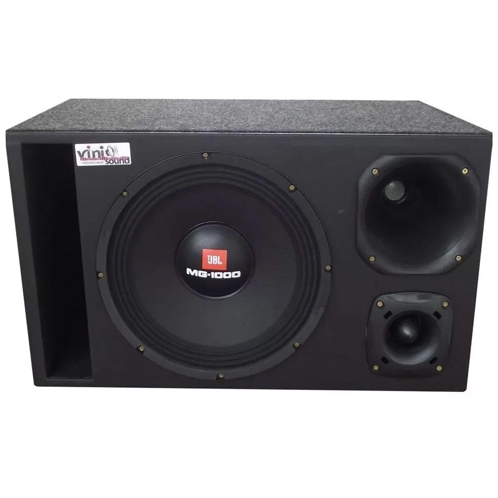 Caixa Trio 100% JBL Selenium Woofer MG-1000 + D200 + ST200