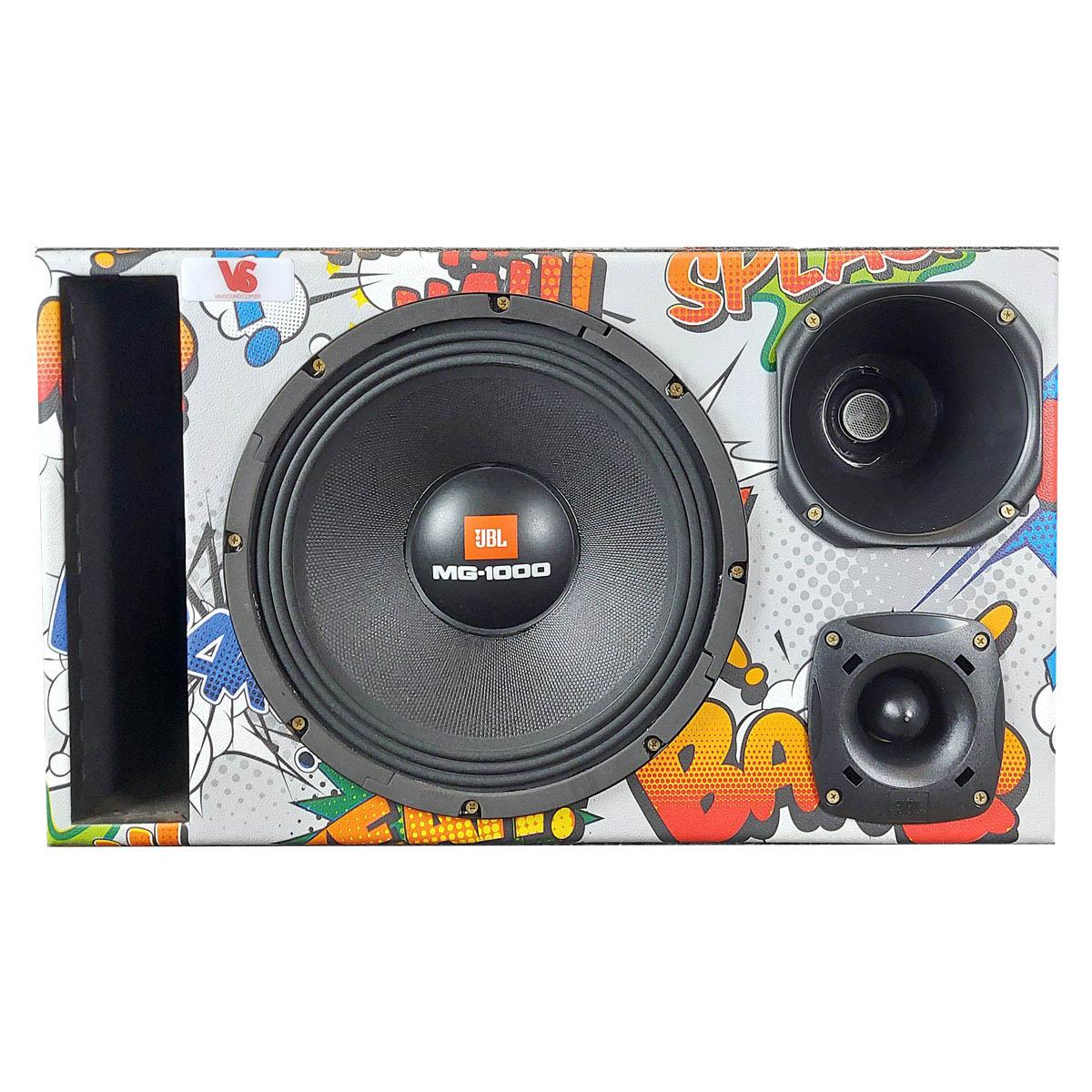 Caixa Trio Edição Especial JBL 12MG1000 12 Pol +D250x +ST200