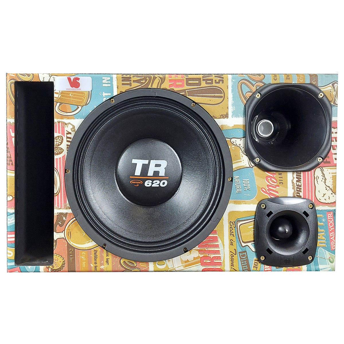 Caixa Trio Edição Especial Triton TR620 12 Pol +D250x +ST200