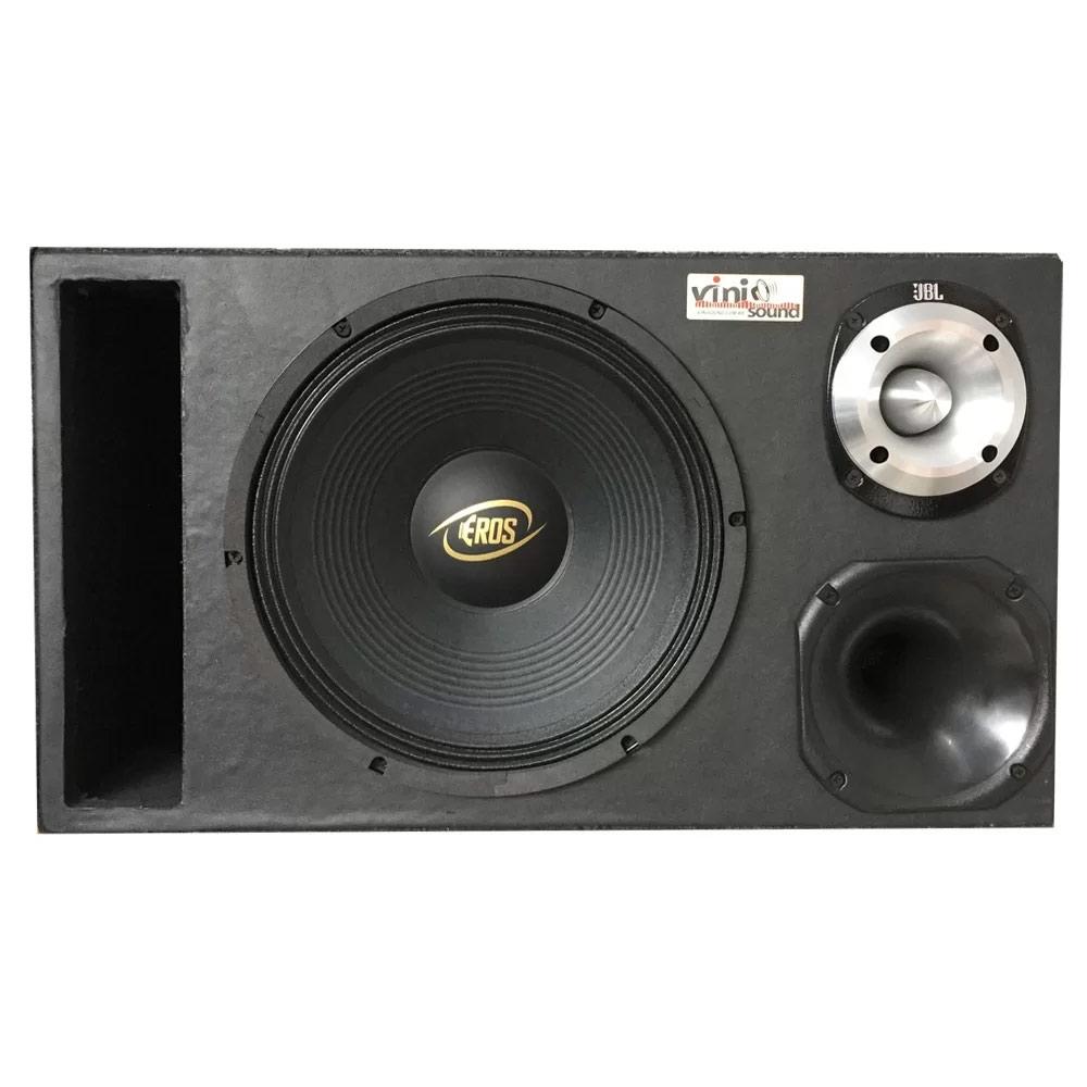 Caixa Trio Eros E-450LC Black 450WRMS 12 Pol + D250x + St400