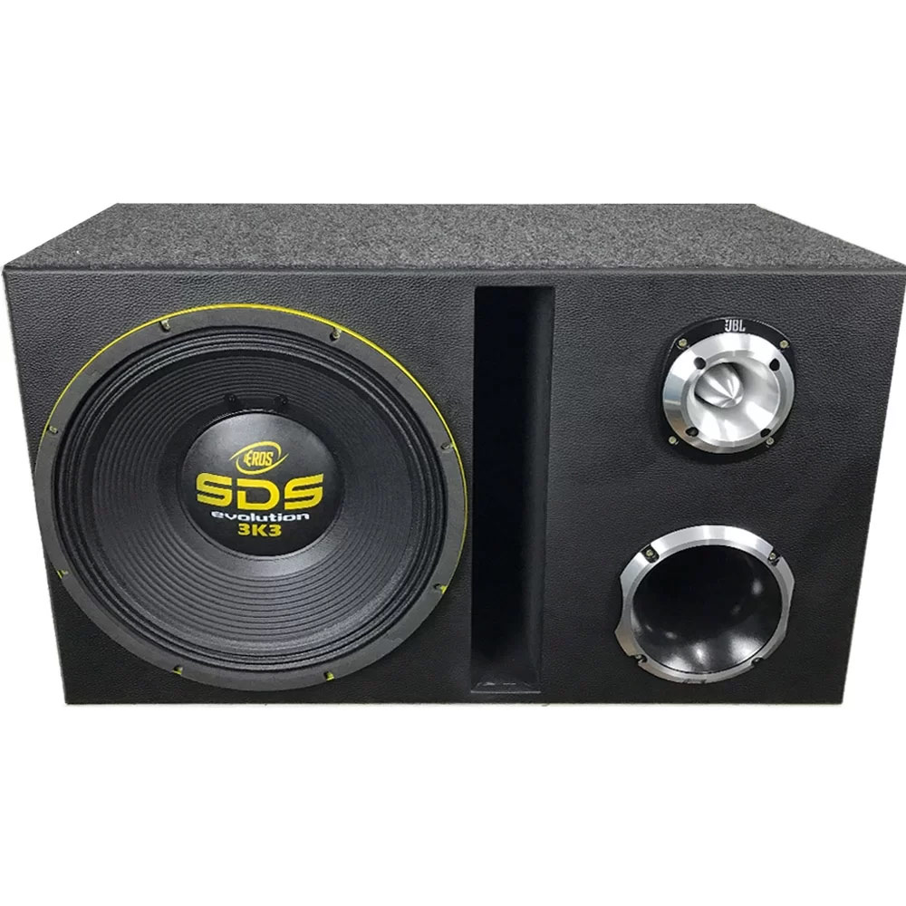 Caixa trio SDS 3.3k Eros 1650W RMS + D405 JBL + ST400 Trio