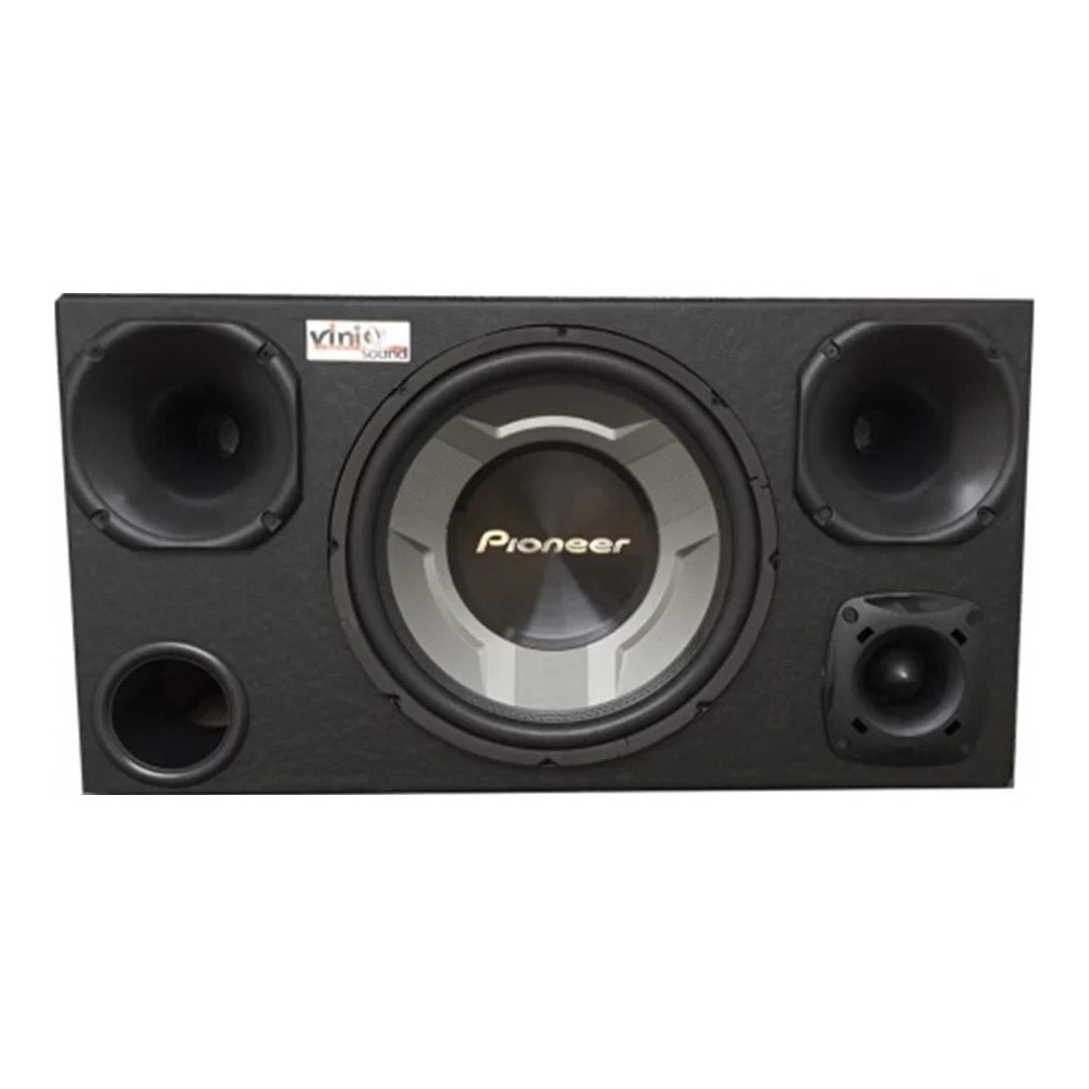 Caixa Trio Sub Pioneer TS-W3060BR 350WRMS 12 Pol + 2 D200 + ST200