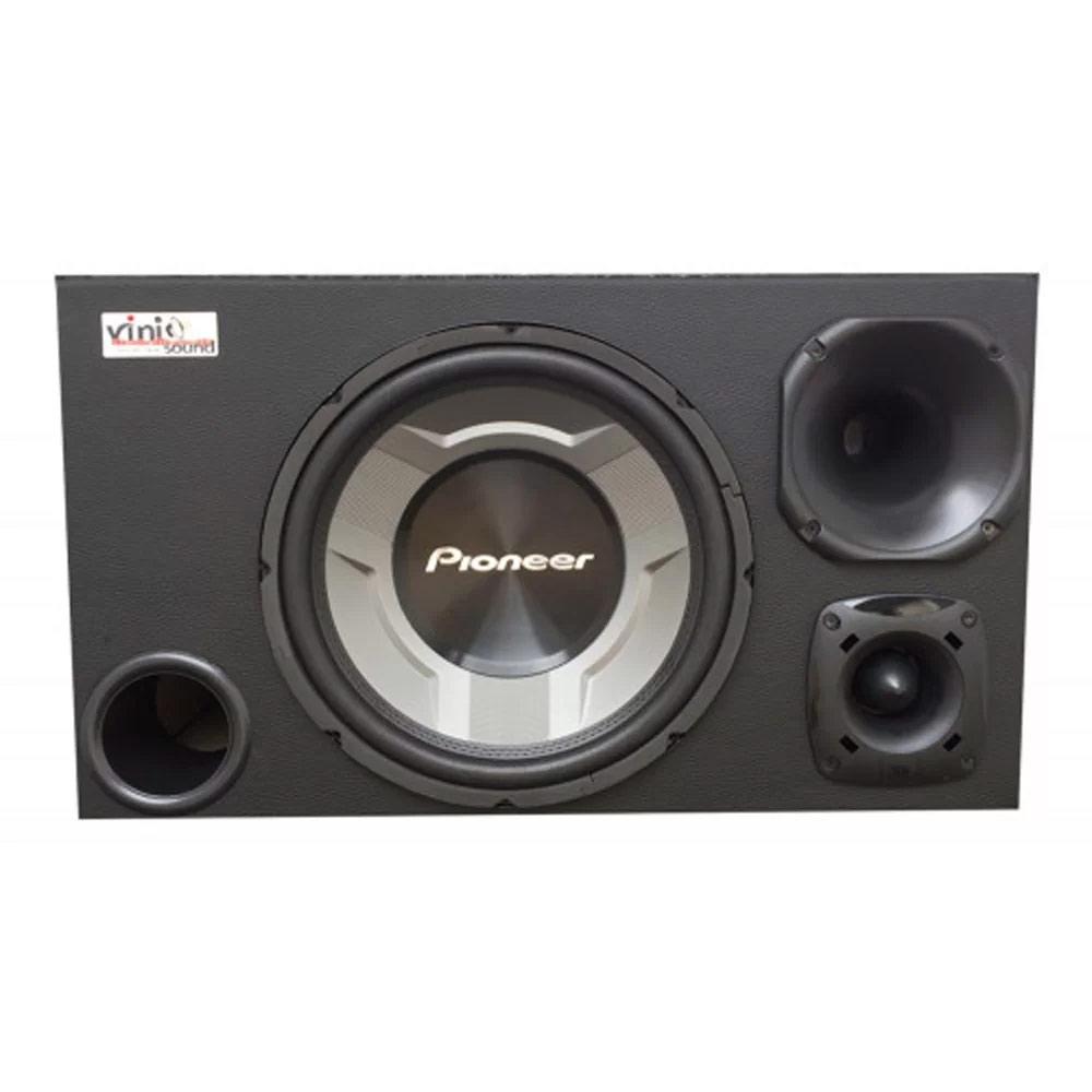 Caixa Trio Sub Pioneer TS-W3060BR 350WRMS 12 Pol + D200 + ST200