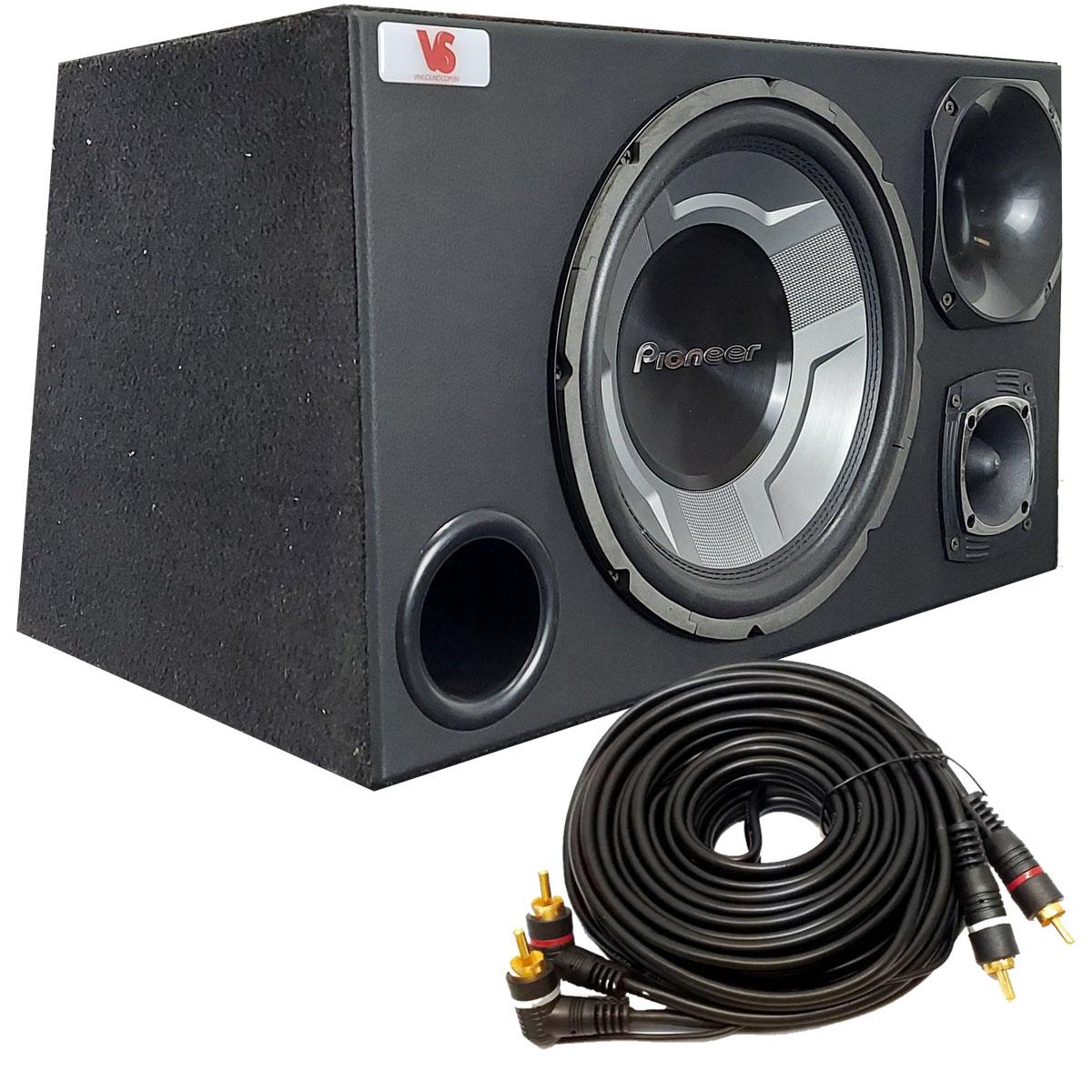 Caixa Trio Sub Pioneer TS-W3060BR 350WRMS 12 Pol + Driver + Tweeter
