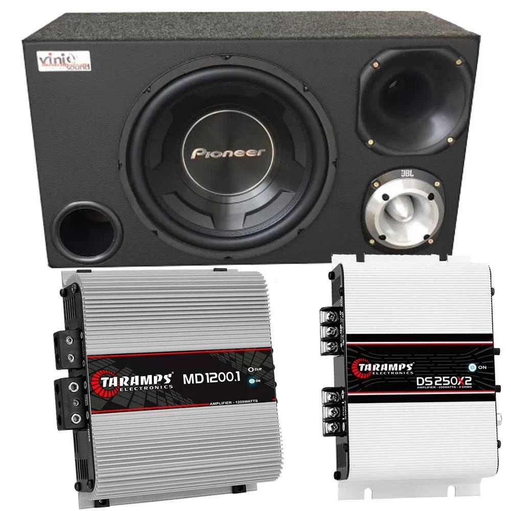 Caixa Trio Sub Pioneer TS-W3090BR 600W 12