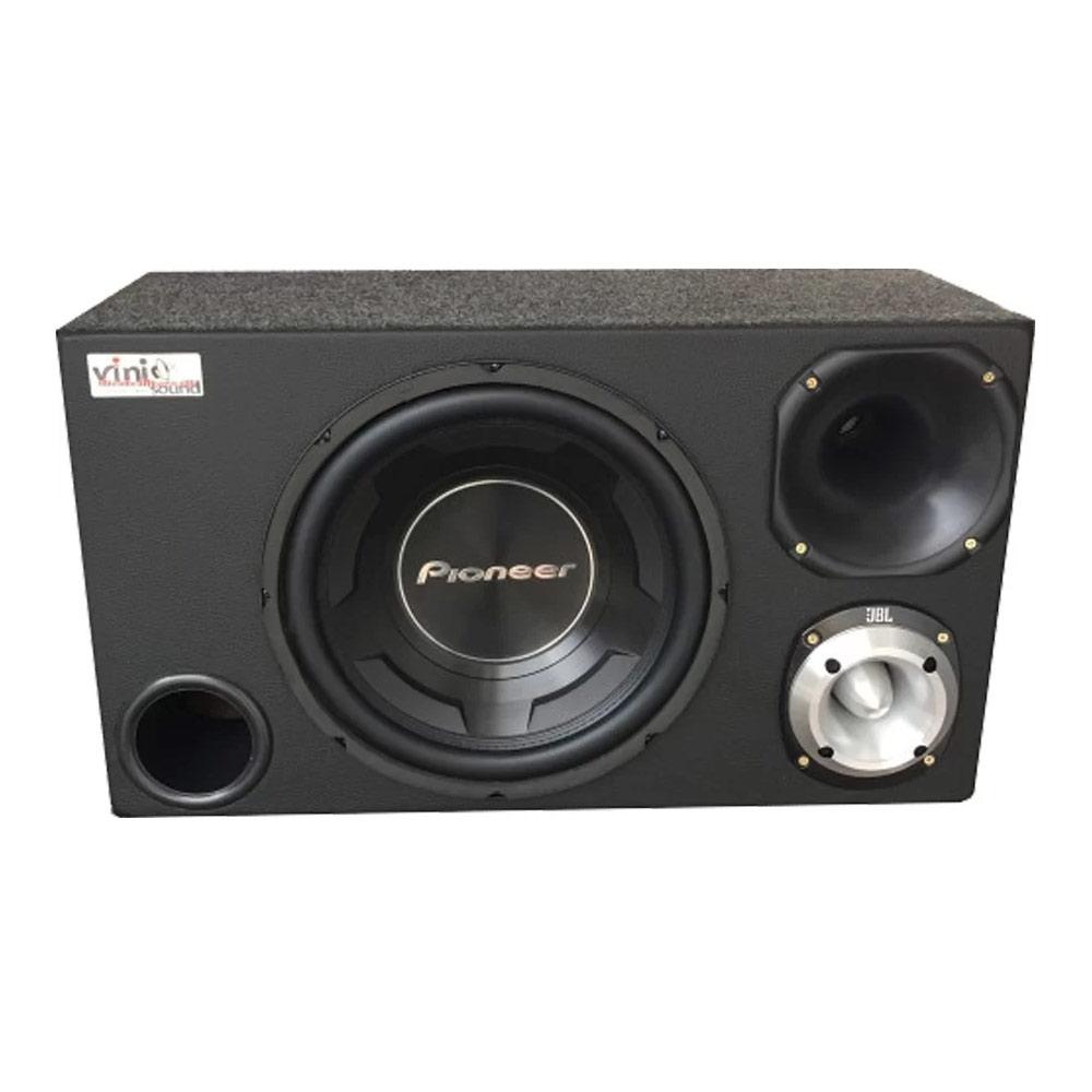 Caixa Trio Sub Pioneer TS-W3090BR 600WRMS 12 Pol + D200 + ST400