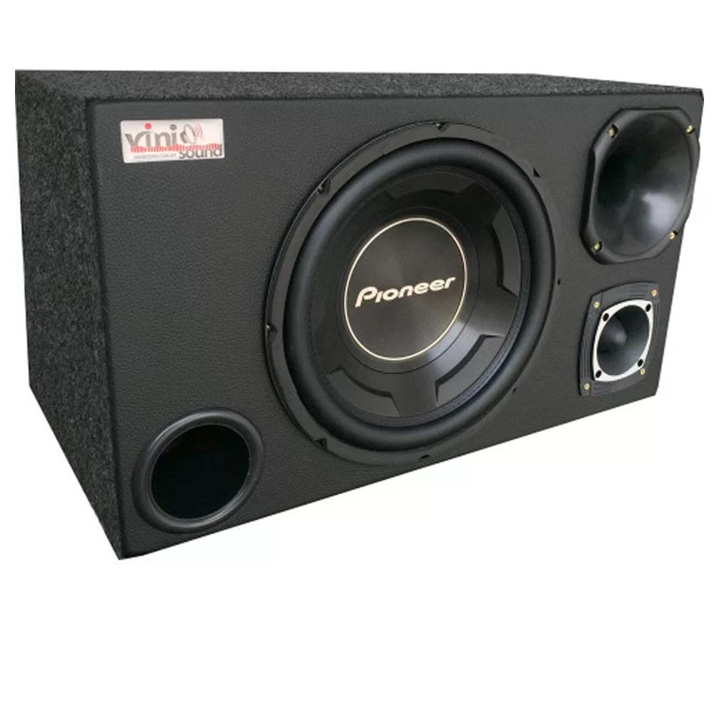 Caixa Trio Sub Pioneer TS-W3090BR 600WRMS 12 Pol + Driver + Tweeter