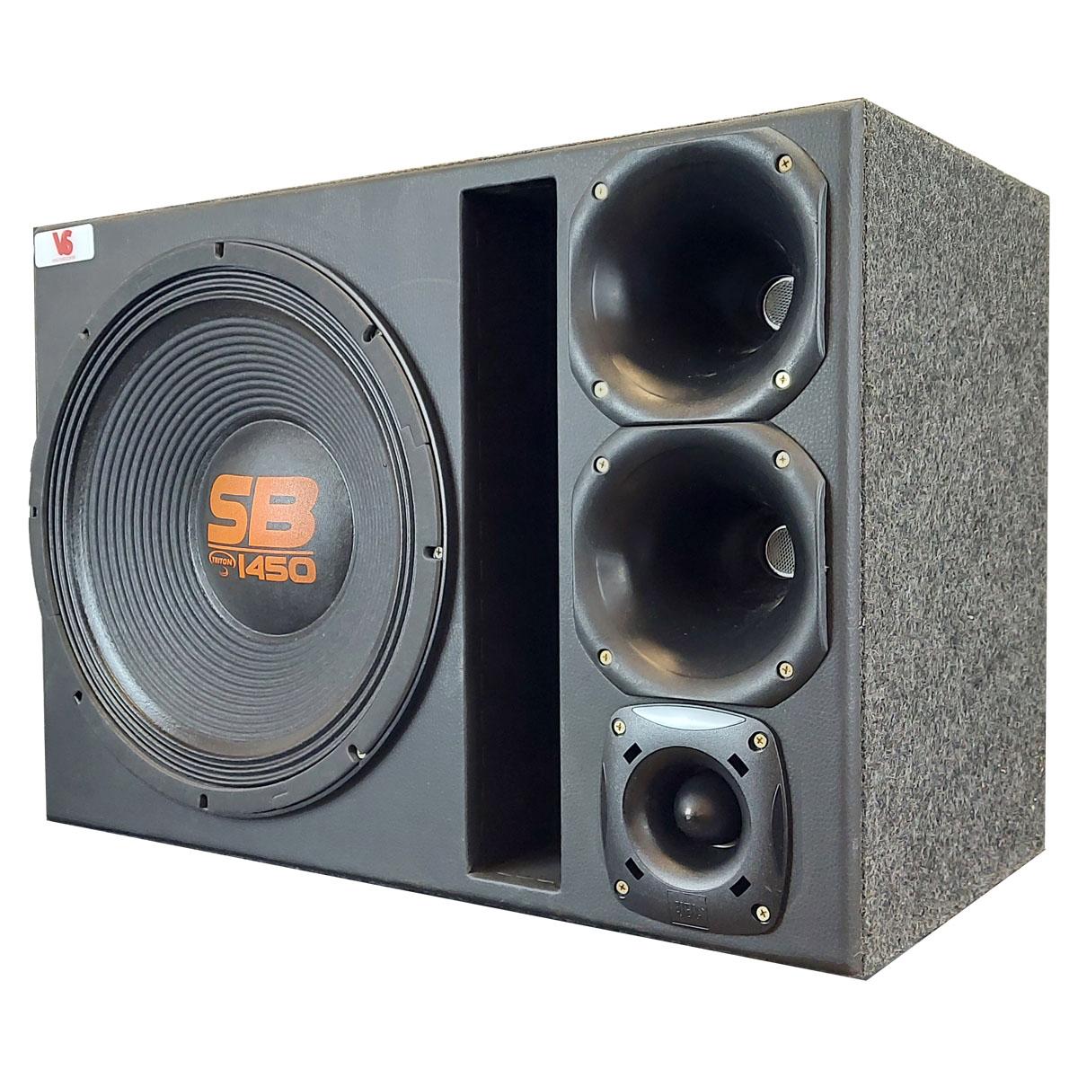 Caixa Trio Triton SB1450 15 Pol +2 D250x + ST200 JBL