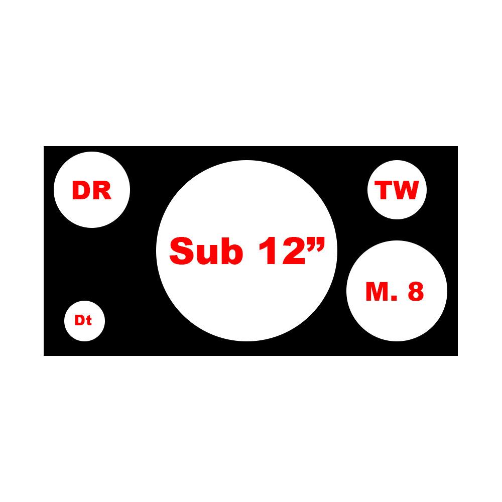 Caixa Vazia 4 Vias 1 de 12 Pol. + 1 Dr + 1 Tw +1 Médio