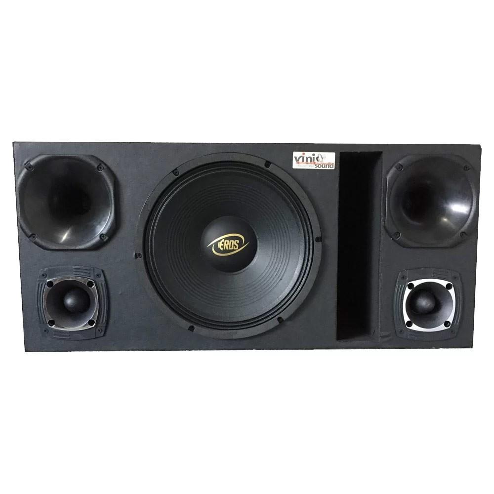 Caixa Woofer Eros E-450 LC Black 450WRMS 12 Pol + 2 Driver + 2 Tweeter