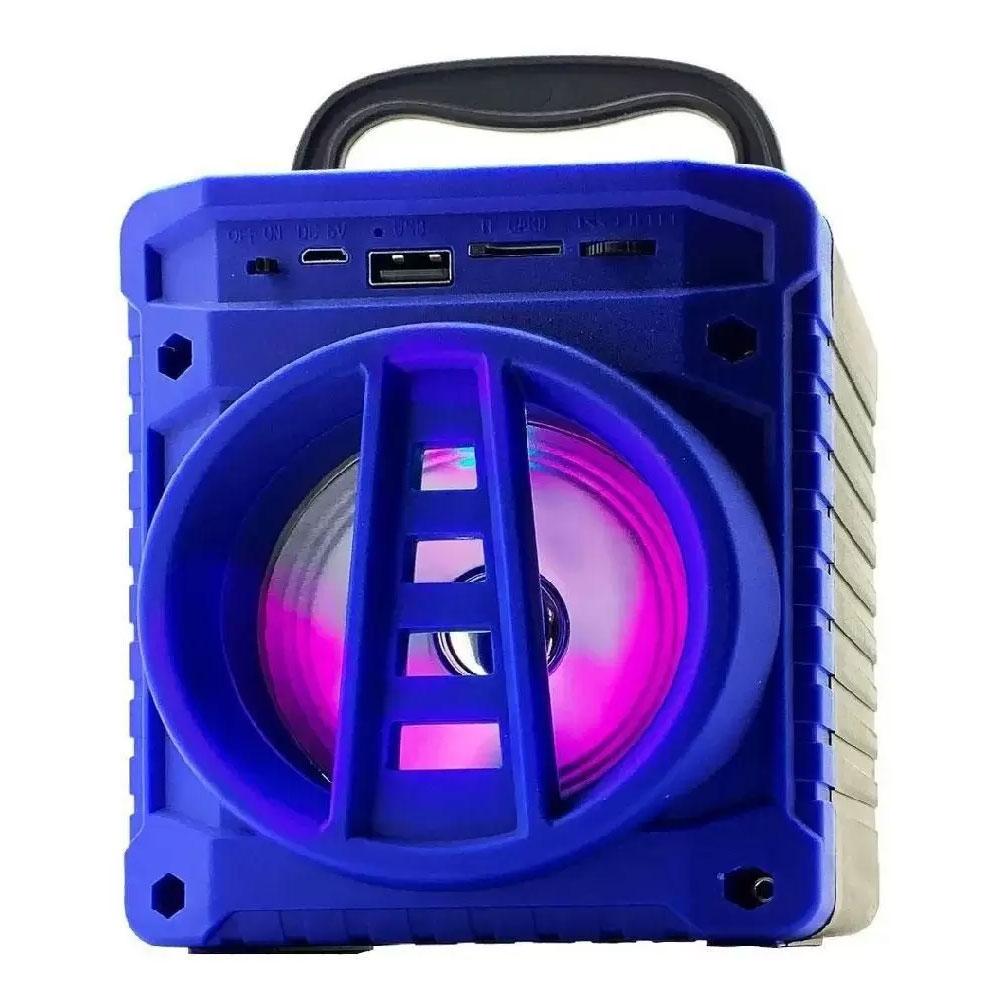 Caixinha De Som Portátil Bluetooth Grasep AL-301 Azul