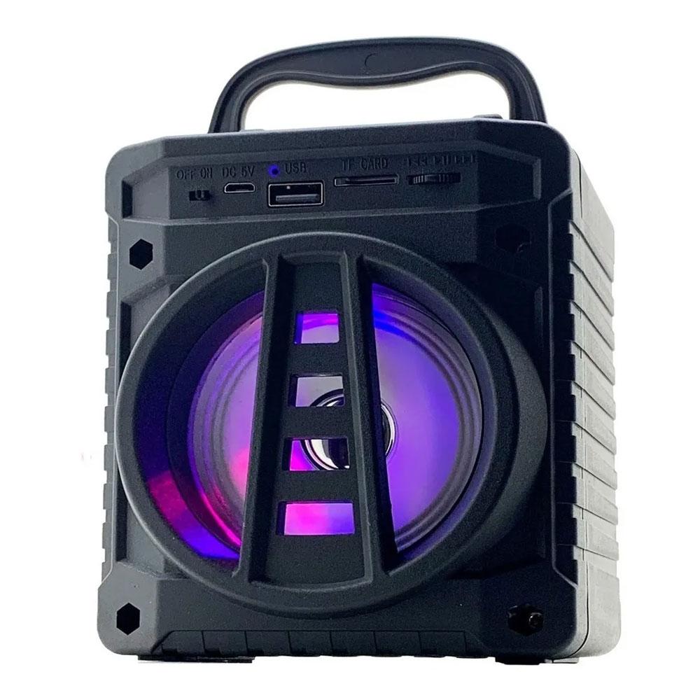 Caixinha De Som Portátil Bluetooth Grasep AL-301 Preta