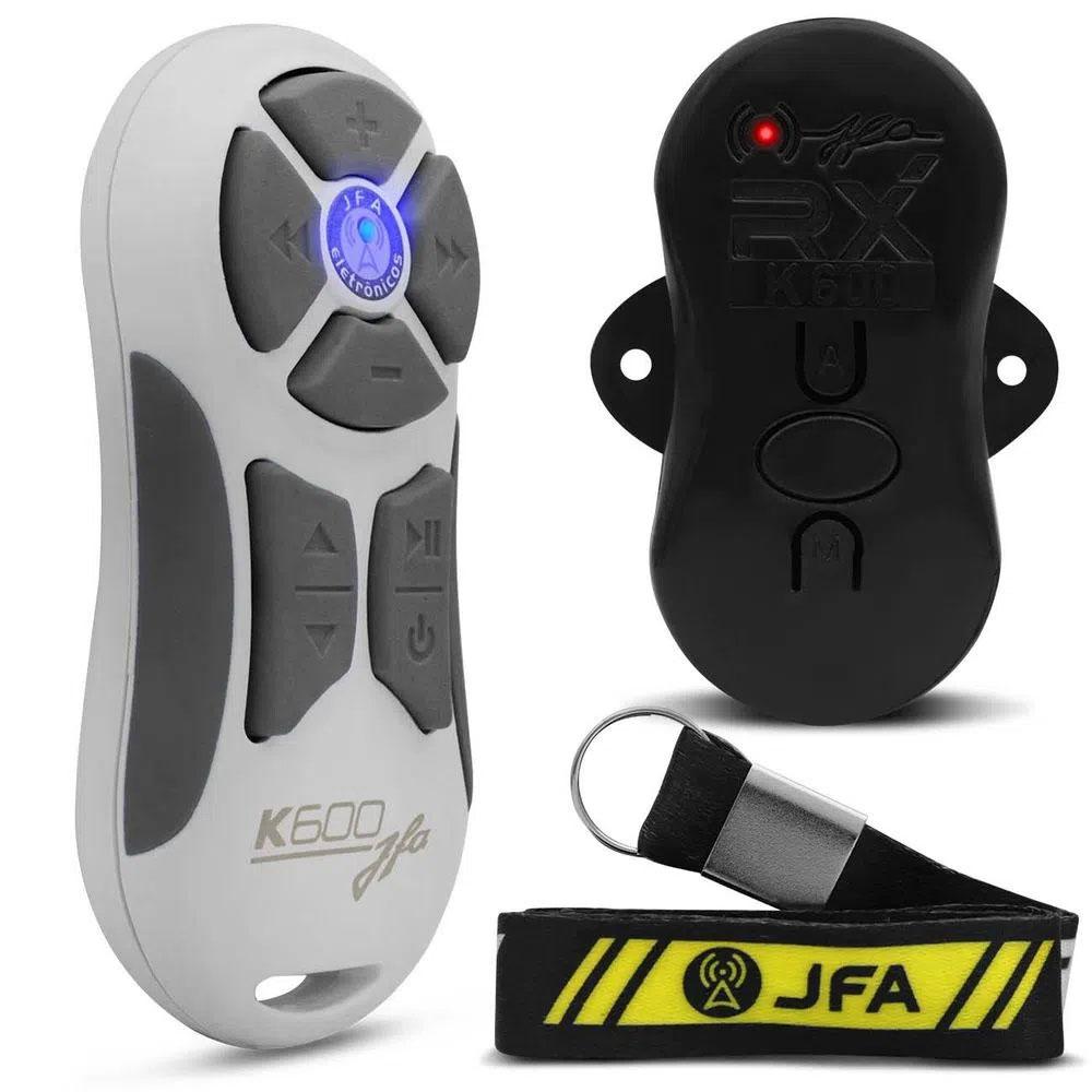 Controle Remoto JFA K600 Branco/Cinza 600m