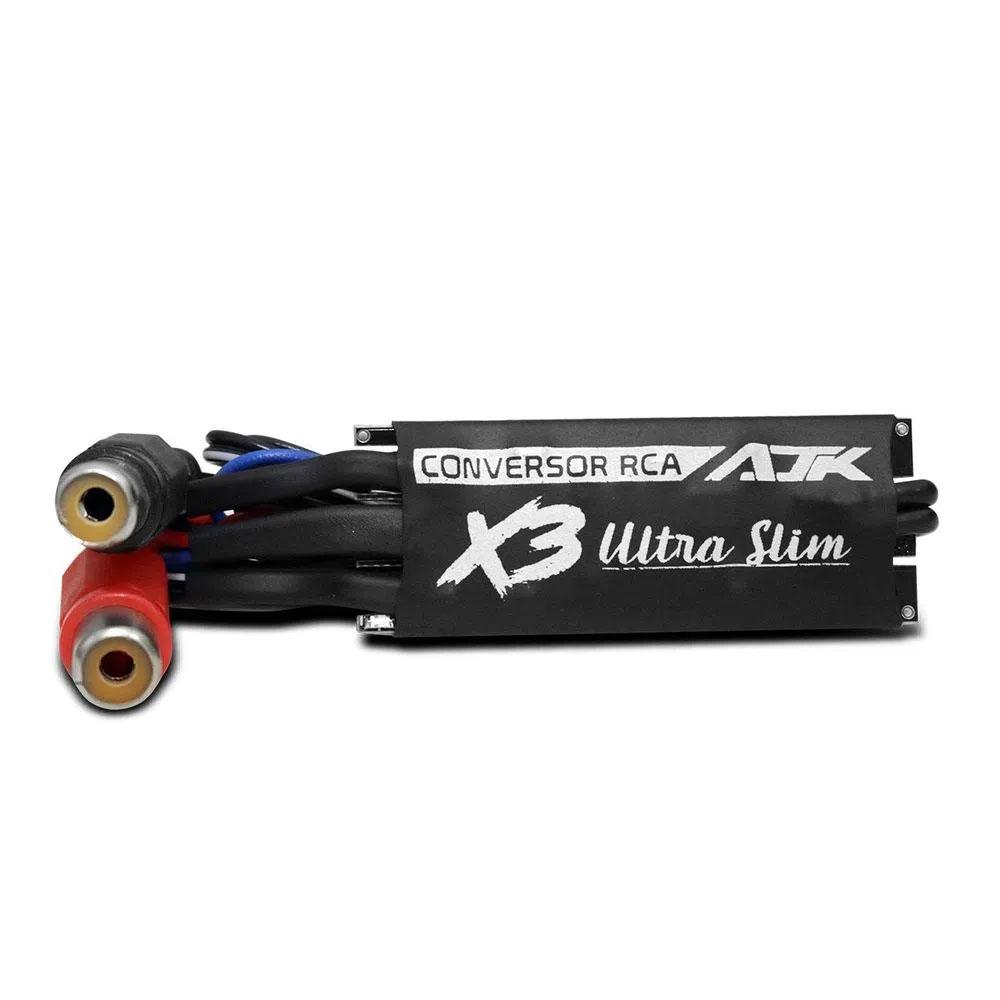 Conversor RCA AJK X3 Ultra Slim Estéreo com Remote