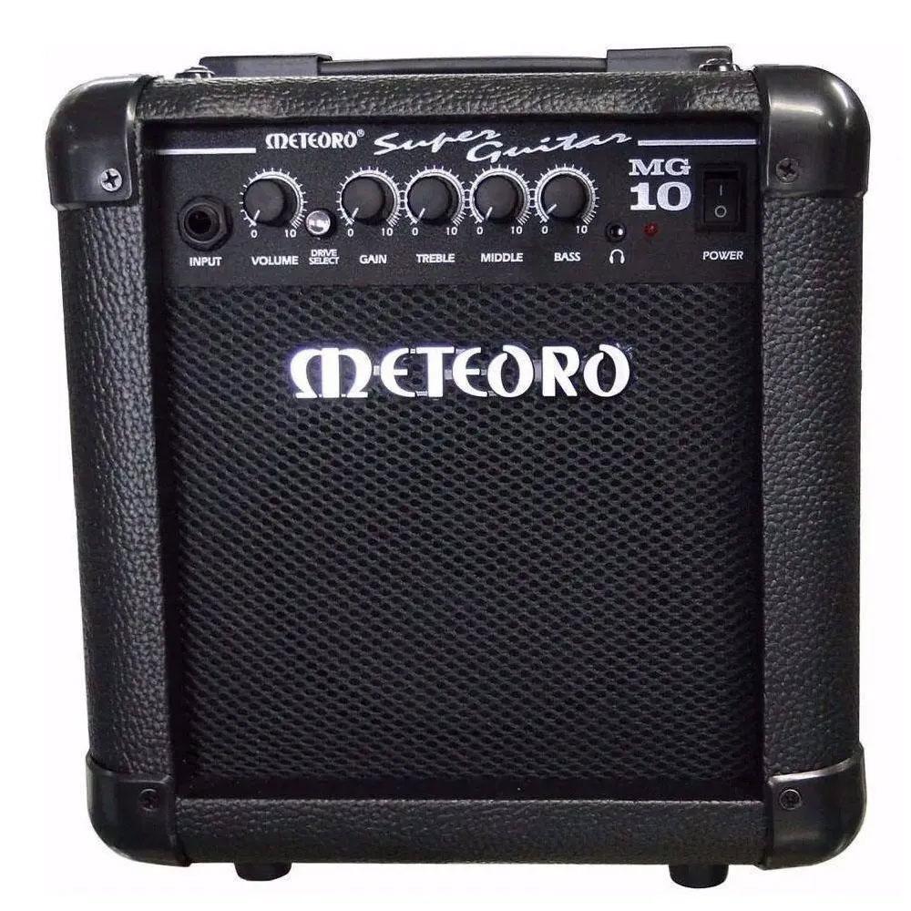 Cubo de Guitarra Meteoro 10Watts Rms MG10 Preto