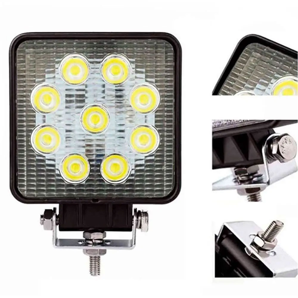 Farol Auxiliar de LED Quadrado 27W Fino Lumi