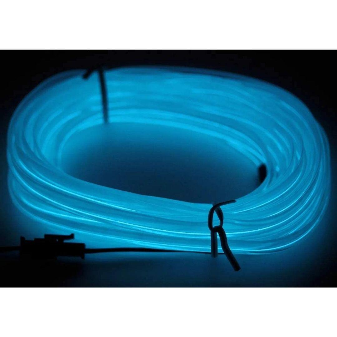 Fita De Led Automotiva Neon Briwax 5 Metros Luz Interna - Azul Gelo