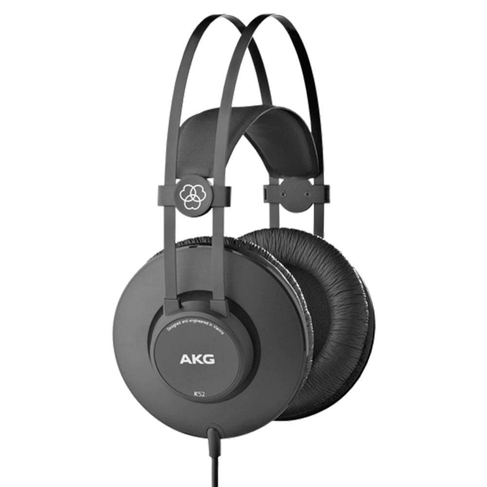 Fone De Ouvido Fechado Over Ear Profissional AKG K52 Preto