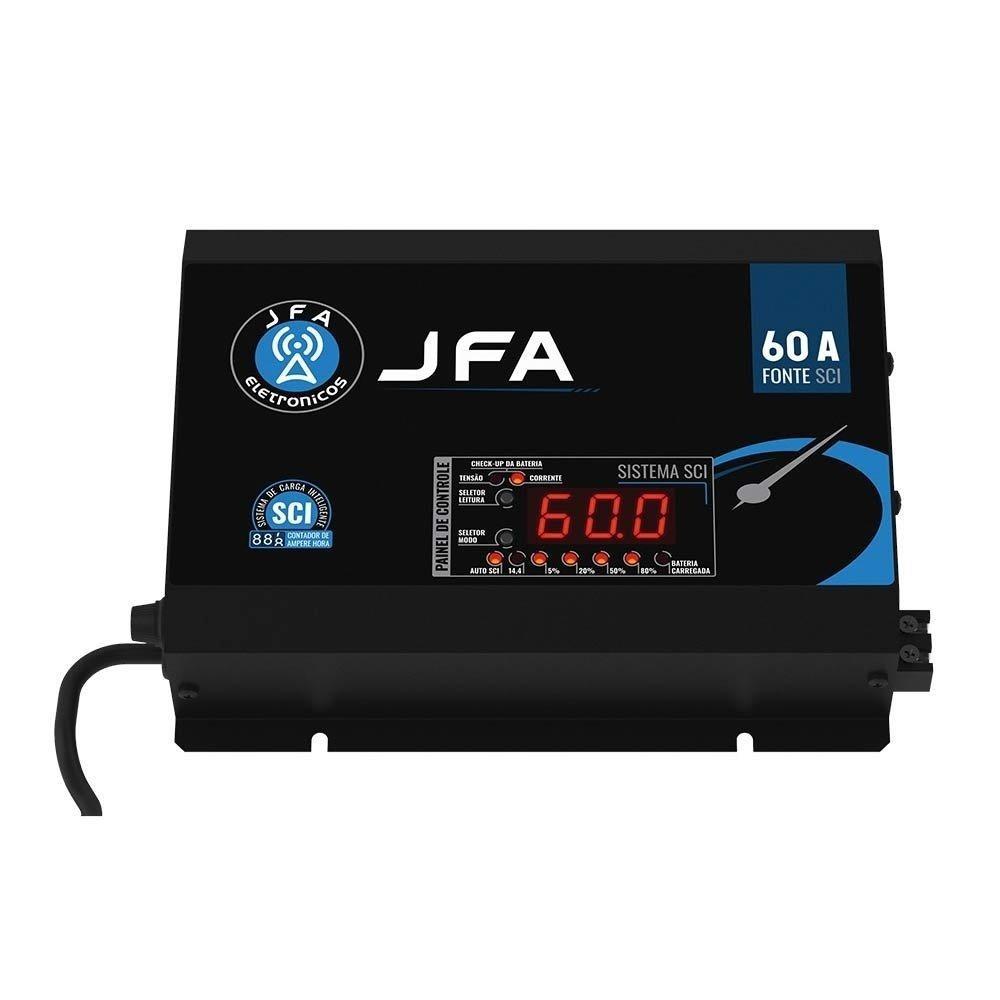 Fonte JFA 60A Amperes Automotiva Sci Slim - 14.4 V - Bivolt