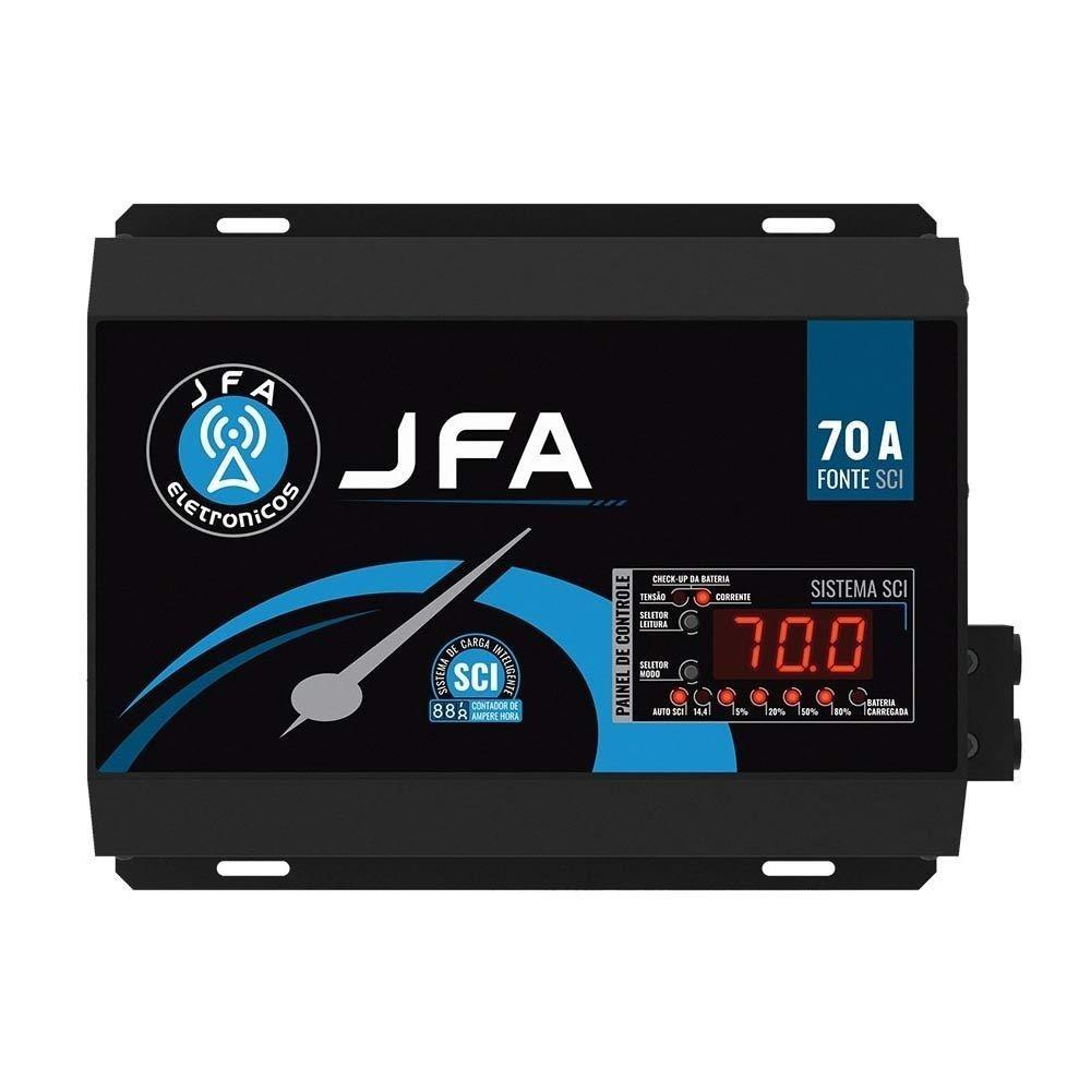 Fonte 70 Amperes Automotiva JFA SCI Slim 14.4 V Bivolt