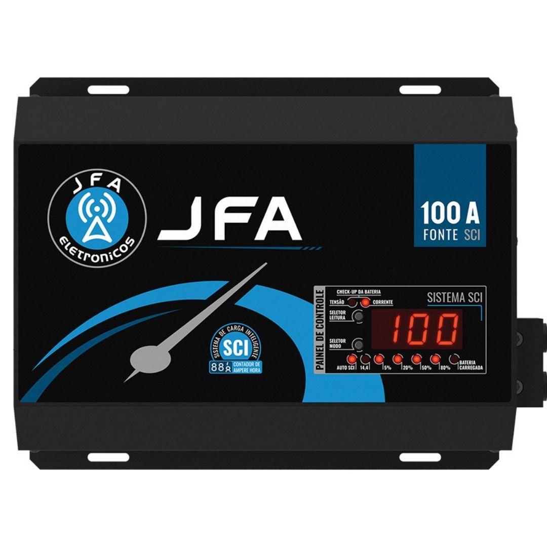 Fonte e Carregador Automotivo 100A JFA SCI Slim 14.4V Bivolt