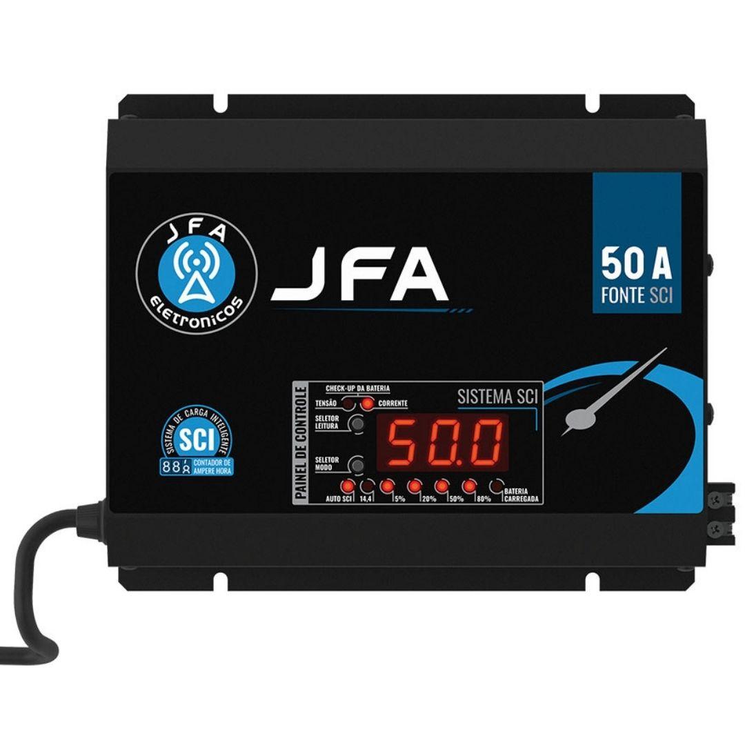 Fonte E Carregador Automotivo 50 A JFA SCI Slim 14.4v Bivolt