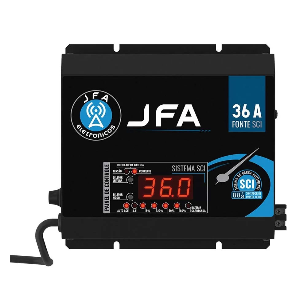 Fonte JFA 36A Amperes Automotiva Sci Slim - 14.4 V - Bivolt