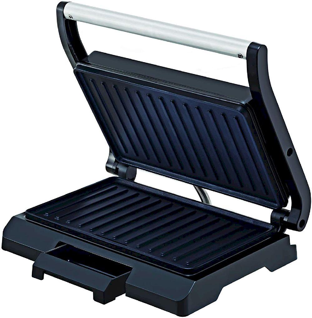 Grill Prensa Antiaderente Cerâmico Preto Black+Decker - 127V