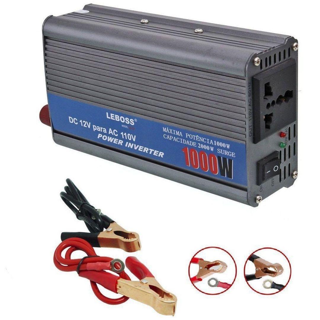 Inversor de Tensão 1000W Leboss 12V Para 110V 60Hz LB-521
