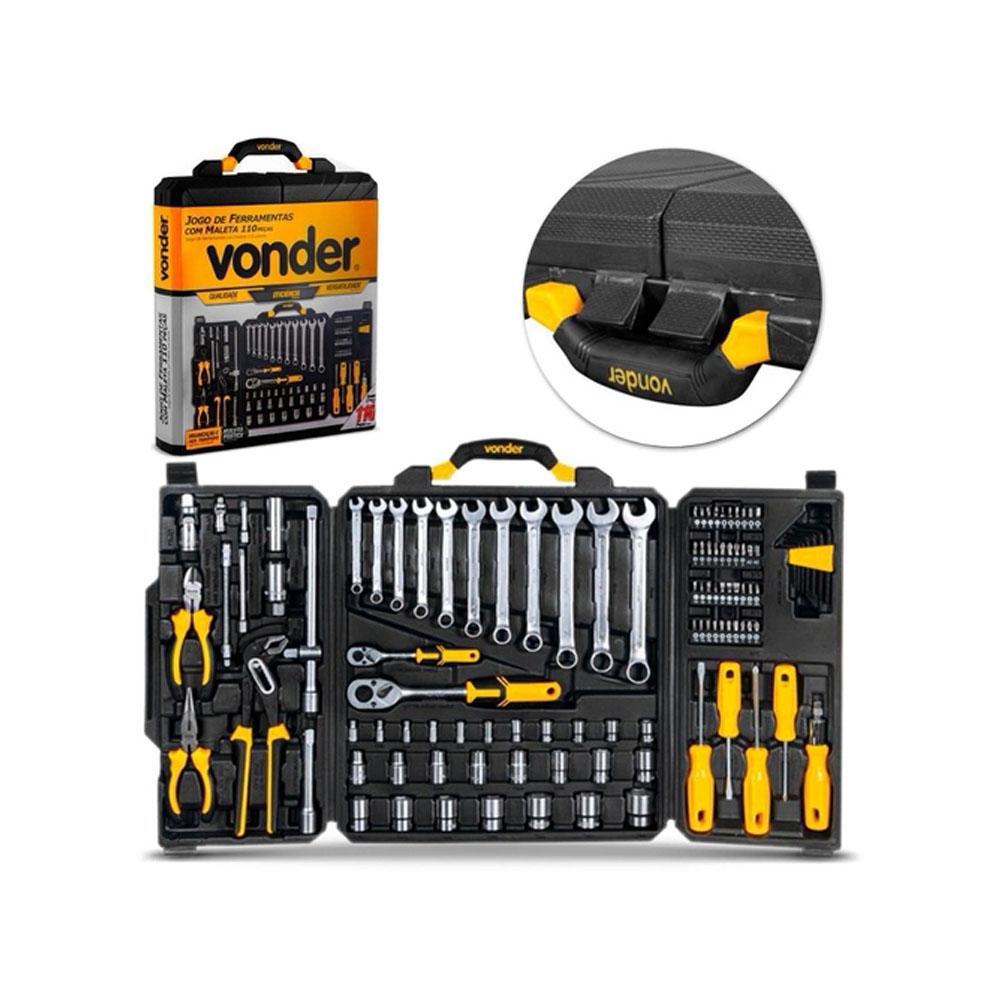 Jogo de ferramentas Com 110 Peças em Aço Cromo Vanádio - VONDER (35.99.110.105)