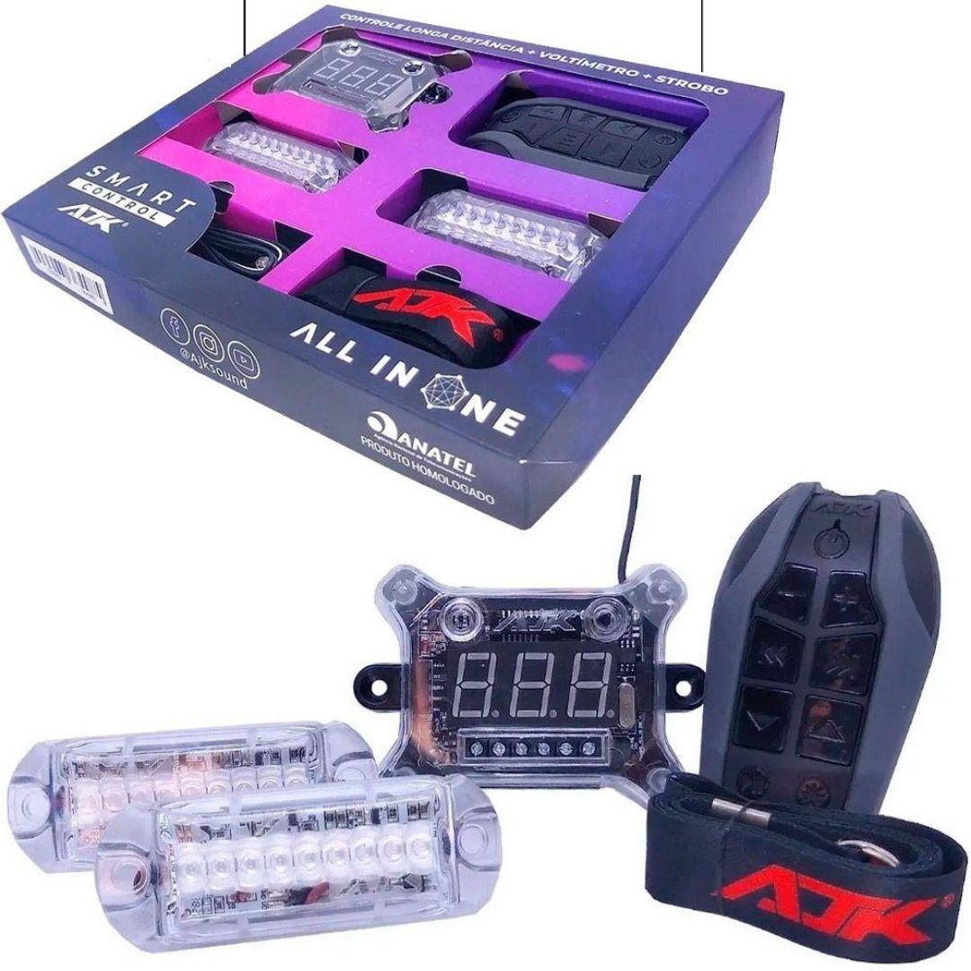 Kit Smart Control AJK Voltímetro 2 Strobos e Controle Longa Distância