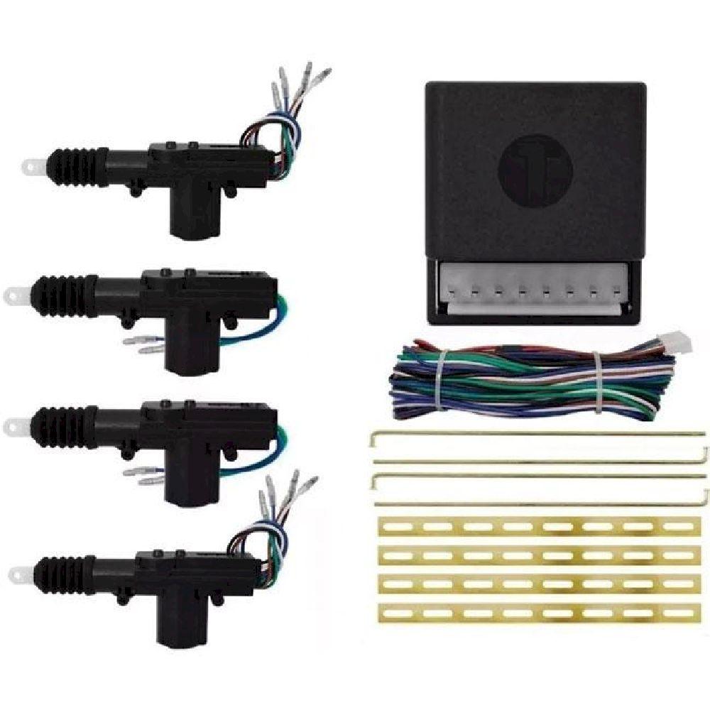 Kit Trava Elétrica 4 Portas Universal Duplo Comando - Permak