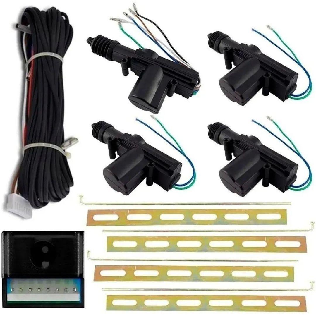 Kit Travas Eletrica Universal 4 Portas Dupla Serventia KX3
