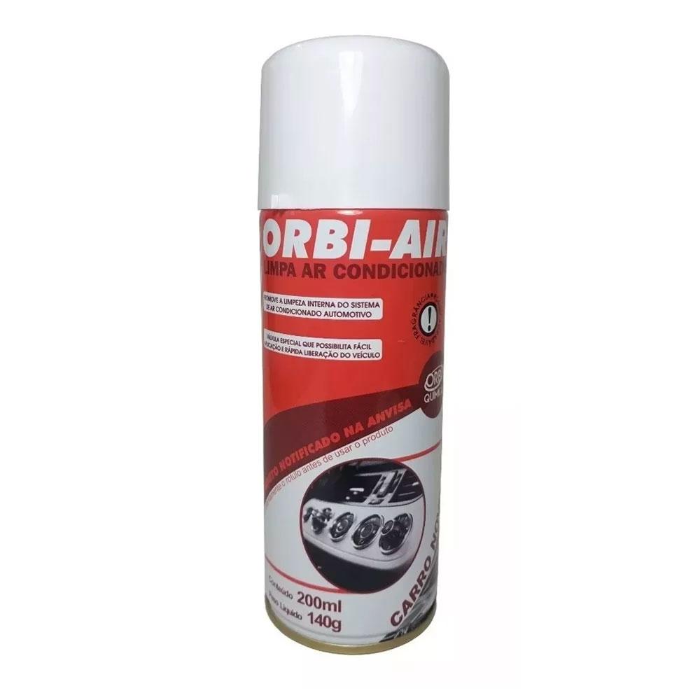 Limpa Ar Condicionado Carro Novo Spray 200ML Orbi Air