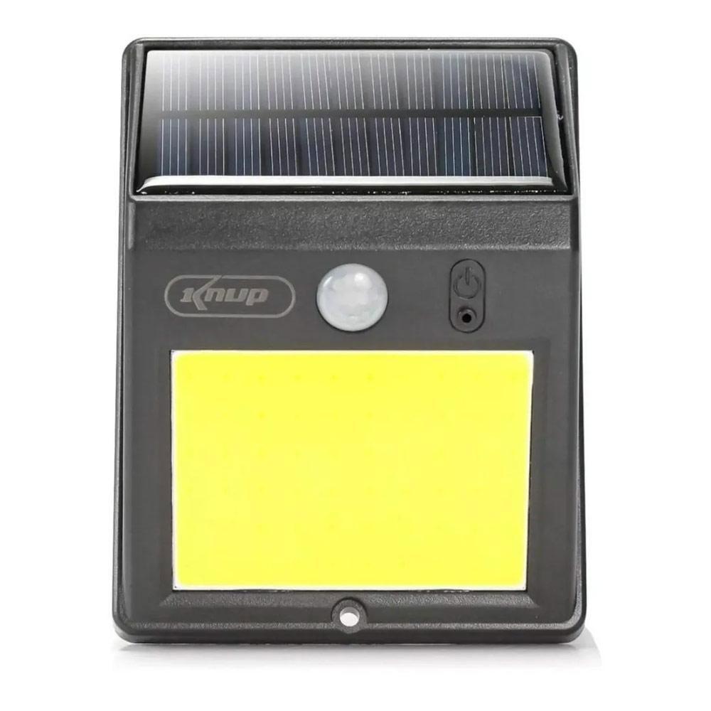 Luminária Solar 60 Leds Kp-LU02/60 com Sensor de Presença