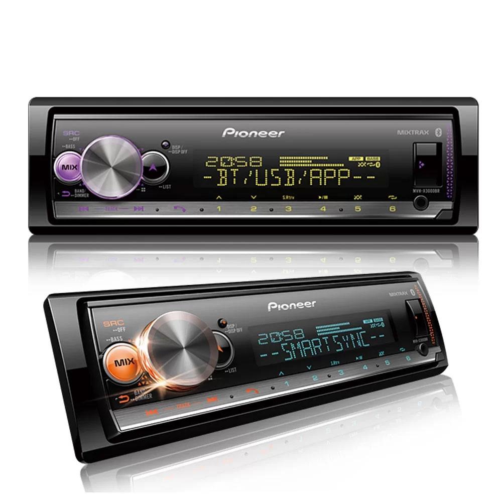 Media Receiver Pioneer MVH-X3000BR C/ Bluetooth, USB, Microfone + Controle Remoto