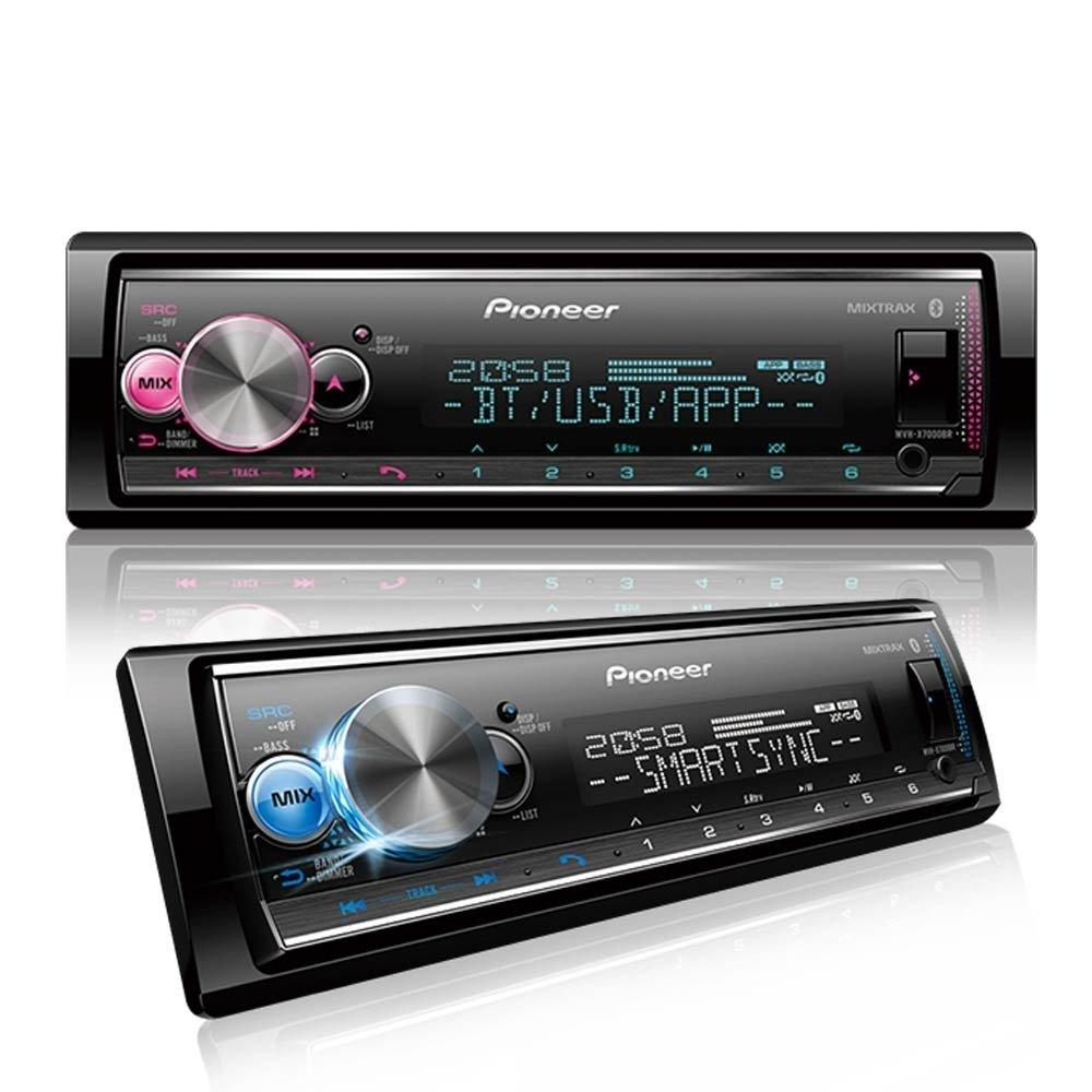 Media Receiver Pioneer Mvh-X7000br c/ Bluetooth, Microfone + Controle Remoto