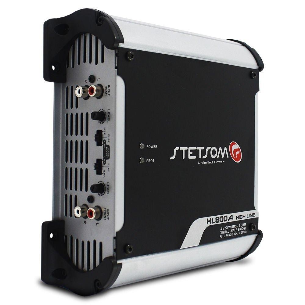 Módulo Amplificador Stetsom HL800.4 900 Wrms 2 Ohms 4 Canais