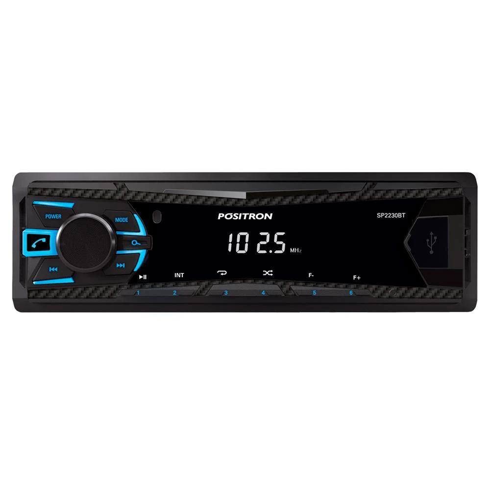 MP3 Player Automotivo Pósitron SP2230 com Bluetooth, Entrada USB, Equalização e Rádio FM