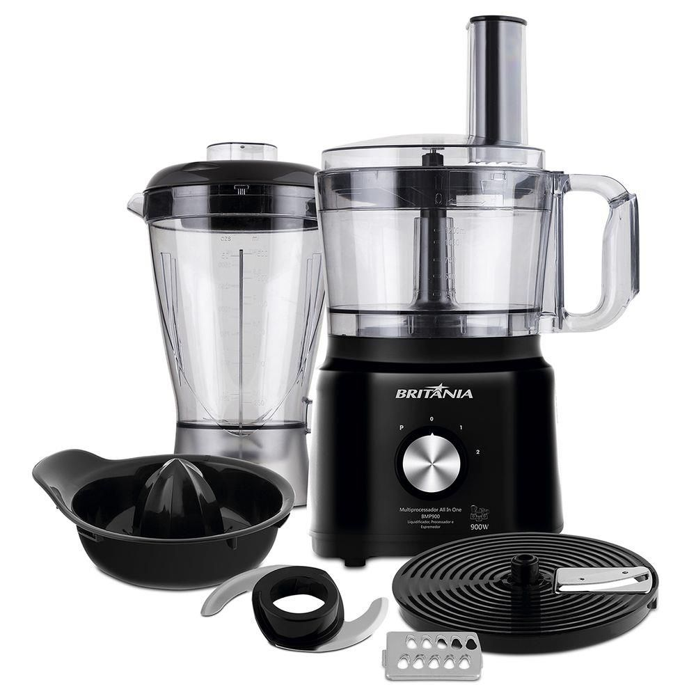 Multiprocessador Britânia All In One BMP900P Preto 900W - 220V