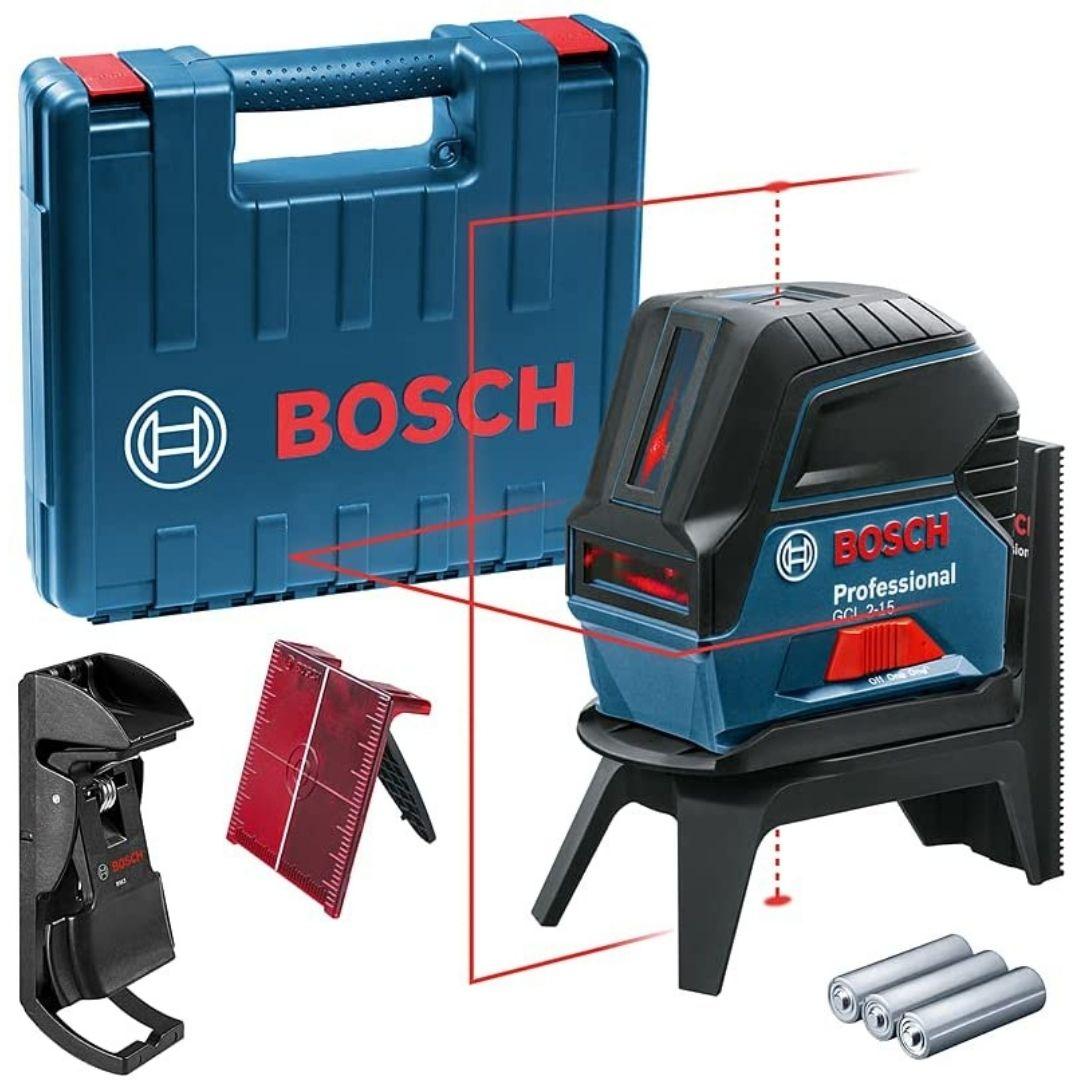 Nível Laser Cruz Bosch GCL 2-15 15m Gancho Maleta - BOSCH