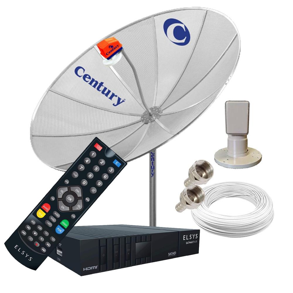 Antena Digital Com Receptor Elsys SATMax Digital Monoponto